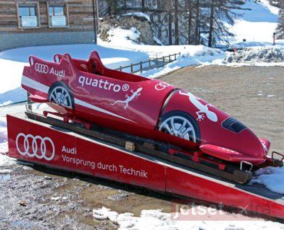 Audi sled at the Olympic bob run