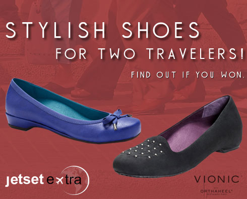 Two Travelers Have Each Won a Pair of Stylish Flats