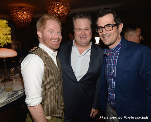 """""""Modern Family"""" stars Jesse Tyler Ferguson, Eric Stonestreet, and Ty Burrell make their yearly pilgrimage to the Fourth Annual Audi Emmy Week Bash"""