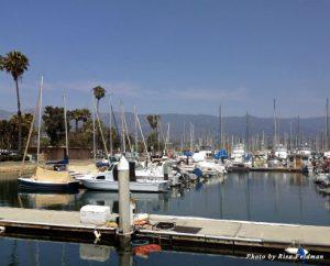 The marina at Santa Barbara Harbor