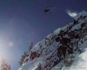 Getting air on Whistler's Air Jordan