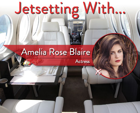 """Jetsetting With """"True Blood"""" Actress Amelia Rose Blaire"""
