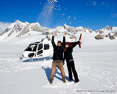 At the Franz Josef Glacier in New Zealand