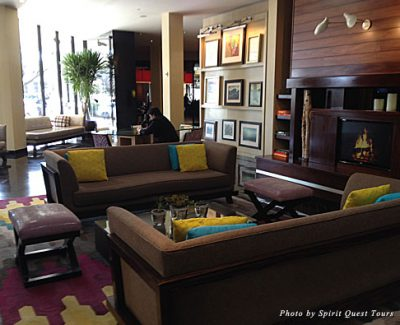 Boutique, contemporary fun in the Hotel Derek lobby