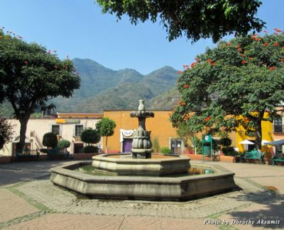 The zocolo in Malinalco