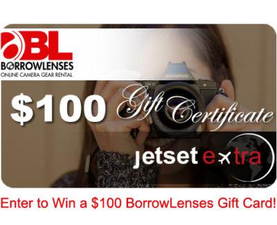 Win a $100 BorrowLenses Gift Card!