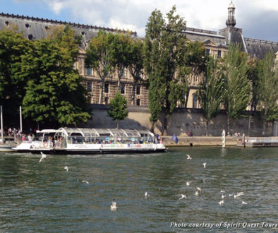 A view of Paris from the Seine