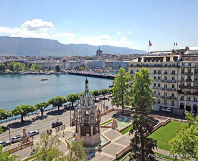 A view from Hotel Le Richemond