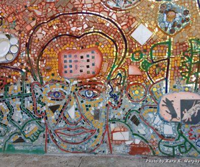 Intricate mosaic at Philadelphia's Magic Gardens