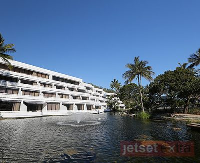 One wing of rooms at One&Only Hayman Island