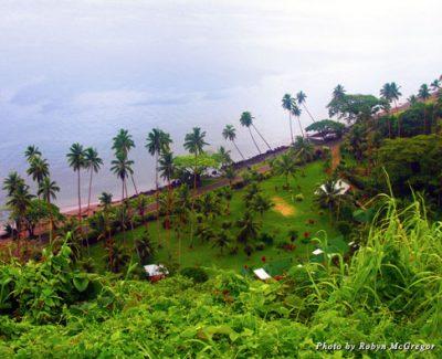 Aerial shot of Fiji's Daku Resort