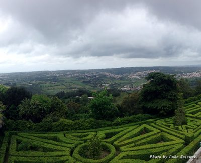 Looking out over the many castles in Sintra
